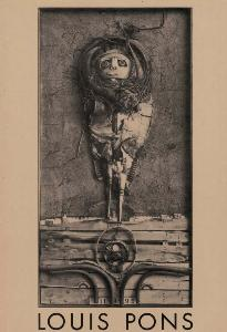 [PONS] LOUIS PONS. Reliefs - Assemblages - Texte de Pierre Dumayet. Catalogue d'exposition (Le Point Cardinal, 1980)